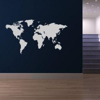 World Map World Atlas Wall Stickers Wall Art Decal Transfers