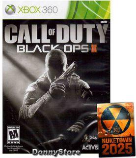 BLACK OPS 2 II COD9 COD 9 XBOX 360 GAME BRAND NEW REGION FREE   US