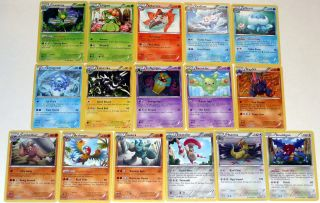 Set of 16 Unique Rare Pokemon Cards Excellent Condition   Noble