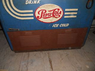 VINTAGE PEPSI COLA SLIDER VENDING MACHINE QUIKOLD COOLER MODEL 1400WD