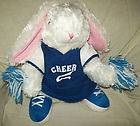 Plush White Plush Bunny Rabbit Cheerleader 14 Adorable Stuffed Animal