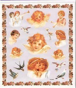 Victorian Cherub baby children angel Stickers glitter 3
