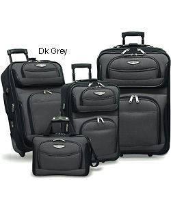 Travelers Choice Amsterdam 4 piece Luggage Set   Gray