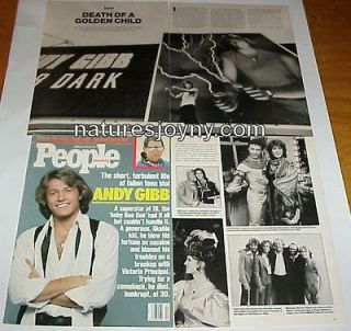 ANDY GIBB clippings cover   turbulent life of fallen teen idol Bee