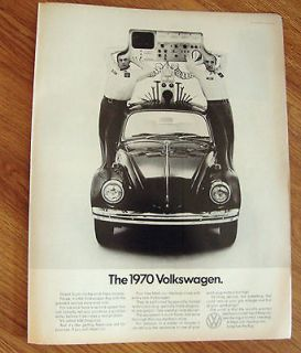 1970 VW Volkswagen Bug Ad The 1970 Volkswagen The Loch Ness Monster