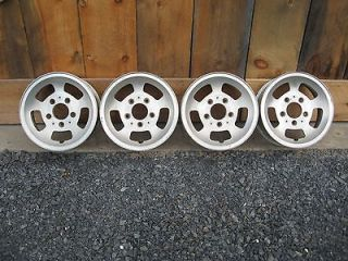 15 Aluminum Slot WHEELS Mag Rim Set of 4 Hot Street Rat Rod TRUCK