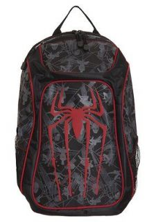 Marvel The Amazing Spiderman Spider Man logo Backpack Book Bag lots of