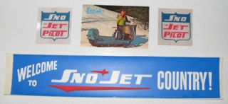 Sno Jet vintage snowmobile snojet decal, stickers lot