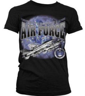 United States Air Force Jet Engine Air Plane Flying In The Sky Juniors