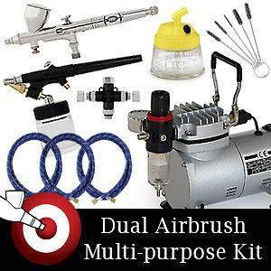 Dual Action Airbrush Cake Decorating Airbrush Kit : Airbrush Skull Stencils Free on PopScreen