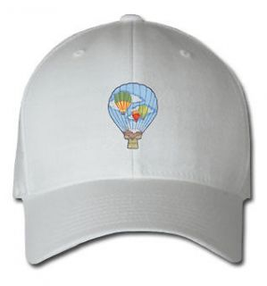 HOT AIR BALLOON AIRCRAFT SPORTS SPORT EMBROIDERED EMBROIDERY HAT CAP