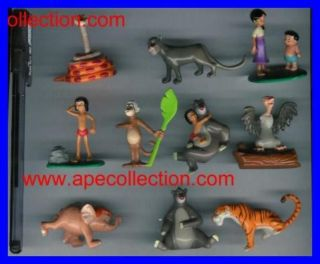 THE JUNGLE BOOK Disney SET 10 Figures RARE from Panini ITALY Mowgli
