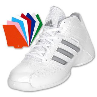 Adidas Basketball Gymshoes High Tops White Boys Mens 6.5 Lady 8.5 Team