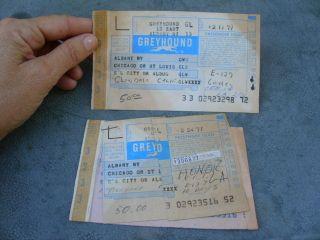 Used 1977 Greyhound Bus Line Tickets Albany Ny Chicago Ill Glendale Ca