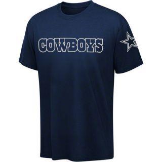 DALLAS COWBOYS Wideout Wordmark T shirt NFL Navy Blue Tee