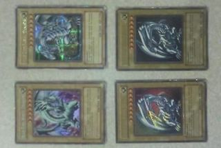 5x blue eyes white dragon (1) bpt 003 (1) pck 001 (3) sdk 001