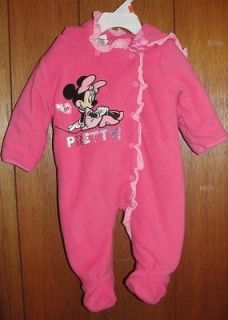 DISNEY MINNIE INFANT NEWBORN GIRLS HOODED SNOWSUIT SNOW SUIT Sz0 3M, 3