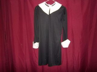 RUBIES~ADDAMS FAMILY~WEDNESD​AY~DRESS~COSTU​ME~SIZE: LARGE 10 12