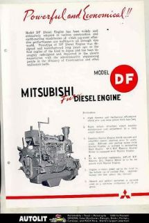 1953 Mitsubishi Fuso DF Diesel Truck Engine Brochure Japan