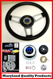 70 76 Dodge Dart Charger Demon Black Steering Wheel 13 3/4 shallow
