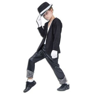 FANCY DRESS KIDS MICHAEL JACKSON STYLE SUPERSTAR OUTFIT