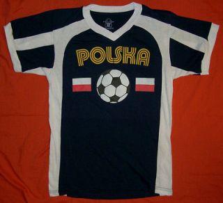 Polish shirt soccer jersey tee style NEW Olympics futbol adult XXL