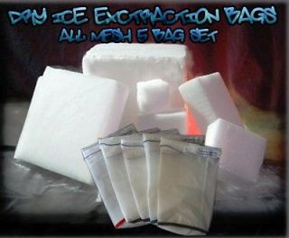 All MESH Dry ICE Hash Dry Sieve Bags Ice Extractor 5 Gallon 5 Bag Set