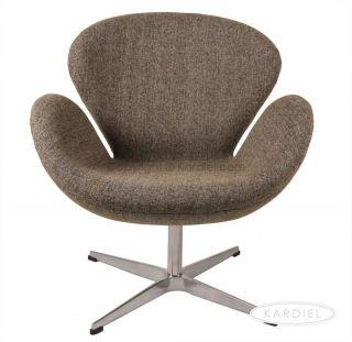 SWAN CHAIR OATMEAL TWILL DANISH Arne Jacobsen furniture retro modern