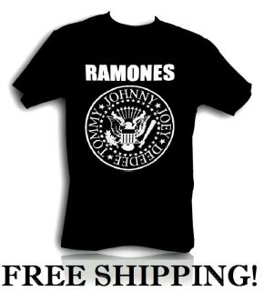 Ramones Distressed Presidential Seal Logo T Shirt Rock Band Size S XL
