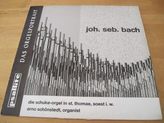 BACH   Organ Works ARNO SCHONSTEDT GERMAN LP Stereo NM