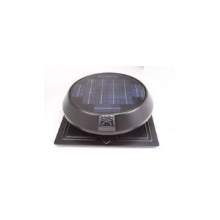 SunRise Solar Attic Vent Fan 20 Watt Panel Round Flat Base Thermostat