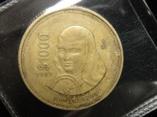 RARE1989 MEXICO 1000 PESOS COIN %%%%%y3