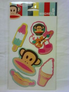 Julius Monkey 5 MAGNETS Ice Cream Cone Popsicle Astronaut Hot Dog