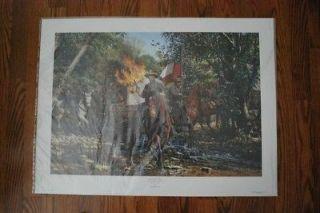 John paul strain Fire in the Valley print