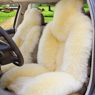1pc Genuine Sheepskin car seat cover beige color car cushion car
