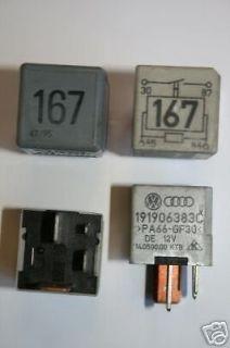 No 167 VW AUDI SEAT GOLF PASSAT 12V FUEL PUMP RELAY 191 906 383 C