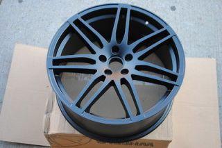 18 Matte Black RS4 Style Wheels Rims Audi & Volkswagen VW 5x112 ET 40