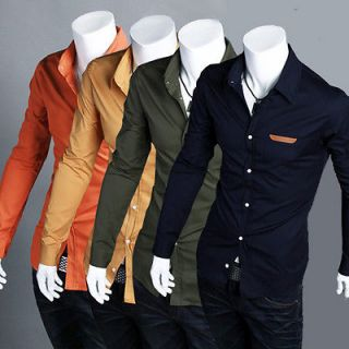 Mens Fashion Casual Slim Fit Shirts T shirts Size XS S M L 4 Color