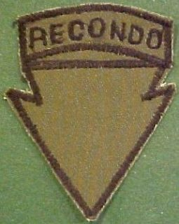 5th Infantry Division Recondo Vietnam Patch