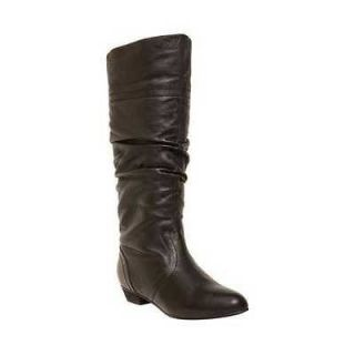 STEVE MADDEN CANDENCE BLACK LEATHER WOMENS BOOTS 6 M