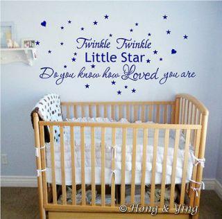 Wall Quote Kid Nursery Decor Vinyl Decal Sticker * Twinkle Twinkle