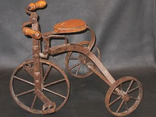 VINTAGE Antique Replica Old Fashioned Working Miniature TRICYCLE