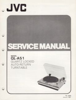 JVC Original Service Manual for QL A51 Turntable