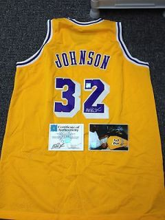 AUTOGRAPHED MAGIC JOHNSON LAKERS JERSEY SUPERSTAR GREETING