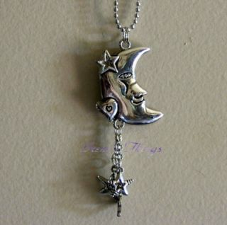 Moon Stars Car Charms Chimes Jewelry Rearview Mirror