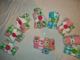 PACK TERRY BABY INITIAL WASHCLOTHS 2 STYLES LETTER B E K M N O R T