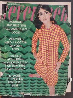 SEVENTEEN MAGAZINE FEBRUARY 1966 FASHION, LOLLIPOP DRESSES, GUMDROP