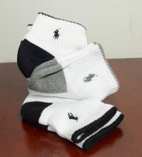 Polo Ralph Lauren Mens Sports Socks 3 Pairs/Pack Low Cut NWT Size 10