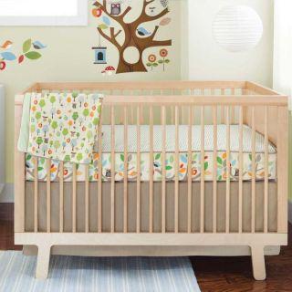 Green Forest Animals Owl Unisex Baby Boy/Girl 4p w/ Wall Decals Crib