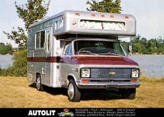 1972 Barth Chevrolet Motorhome RV Factory Photo